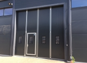 folding doors close up